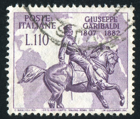 ITALY - CIRCA 1957: stamp printed by Italy, shows Garibaldi monument, circa 1957 Stock Photo - 16745480