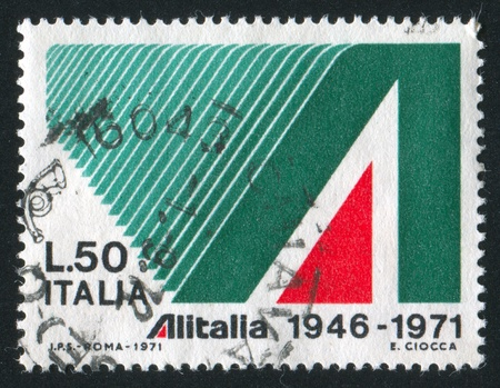 signifier: ITALY - CIRCA 1971: stamp printed by Italy, shows Ornamental A, circa 1971 Editorial