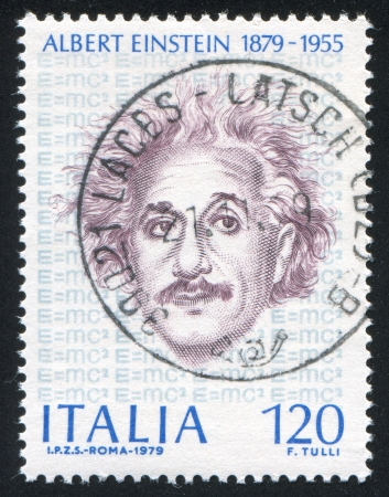 ITALY - CIRCA 1979: stamp printed by Italy, shows Albert Einstein, circa 1979