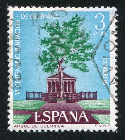 SPAIN - CIRCA 1966: stamp printed by Spain, shows Tree of Guernica, circa 1966 Stock Photo - 16745287