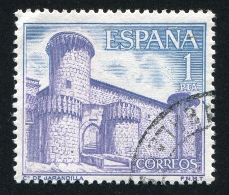 SPAIN - CIRCA 1967: stamp printed by Spain, shows Castle Jarandilla, circa 1967 Stock Photo - 16745488