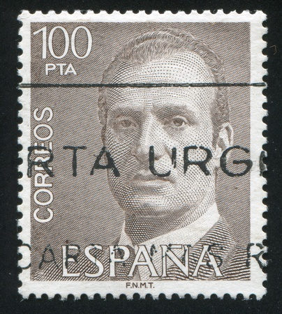 SPAIN - CIRCA 1993: stamp printed by Spain, shows King Juan Carlos I, circa 1993 Stock Photo - 16745585