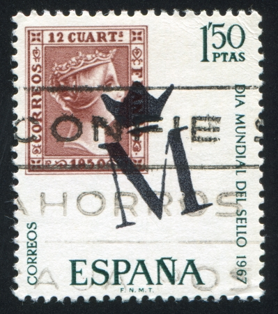queen isabella: SPAIN - CIRCA 1976: stamp printed by Spain, shows Isabella, circa 1976 Editorial