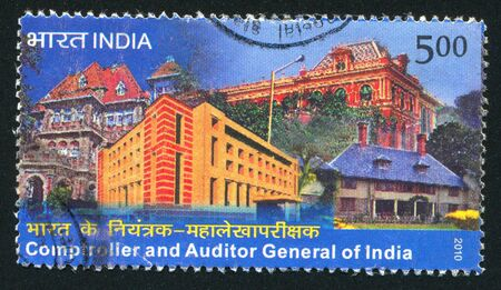 INDIA - CIRCA 2010: stamp printed by India, shows different buildings, circa 2010 Stock Photo - 17145608