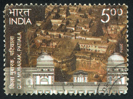 INDIA - CIRCA 2009: stamp printed by India, shows Gila Mubarak, city, circa 2009 Stock Photo - 17146170