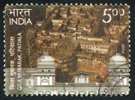 INDIA - CIRCA 2009: stamp printed by India, shows Gila Mubarak, city, circa 2009 Stock Photo - 17146170