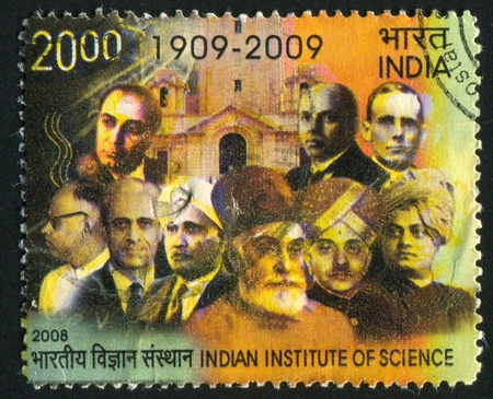 INDIA - CIRCA 2008: stamp printed by India, shows building of institute, scientists, circa 2008 Stock Photo - 17145361