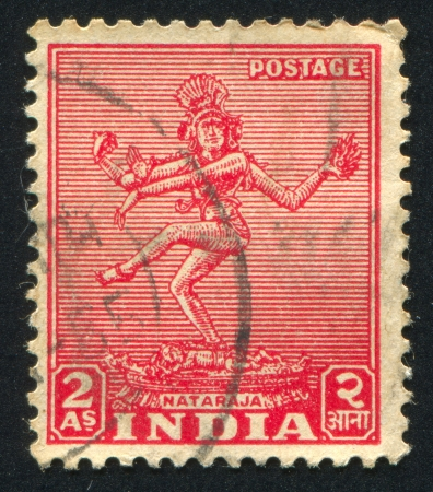 nataraja: INDIA - CIRCA 1948: stamp printed by India, shows body of Nataraja, circa 1948 Editorial