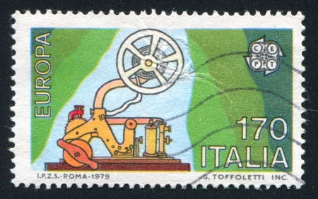 transducer: ITALY - CIRCA 1979: stamp printed by Italy, shows Telegraph, circa 1979