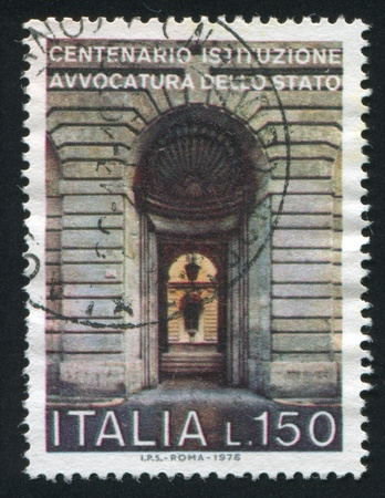 advocates: ITALY - CIRCA 1976: stamp printed by Italy, shows State advocates office in Rome, circa 1976