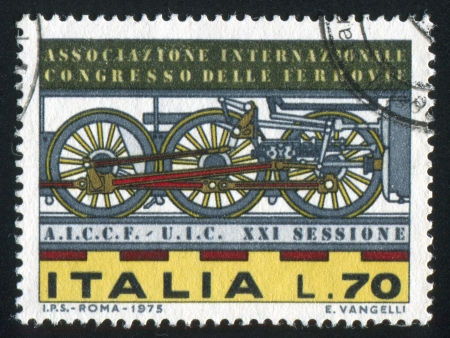 forcer: ITALY - CIRCA 1975: stamp printed by Italy, shows Locomotive wheels, circa 1975 Editorial
