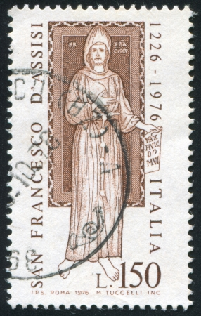 ITALY - CIRCA 1976: stamp printed by Italy, shows Saint Francis, circa 1976