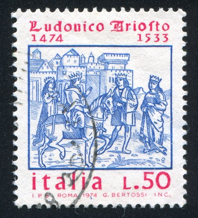 ITALY - CIRCA 1974: stamp printed by Italy, shows King Roland, circa 1974