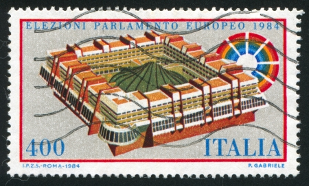 ITALY - CIRCA 1984: stamp printed by Italy, shows European Parliament Election, circa 1984 Stock Photo - 17145687