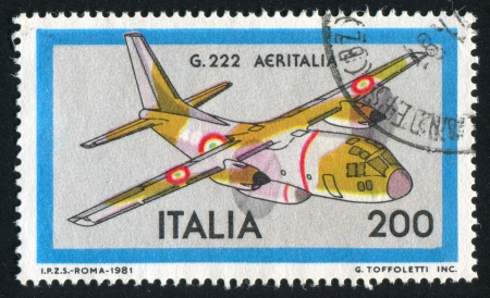 ITALY - CIRCA 1981: stamp printed by Italy, shows G-222 Aeritalia Transport Plane, Shown, circa 1981