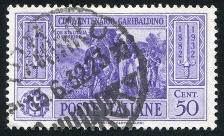 calatafimi: ITALY - CIRCA 1932: stamp printed by Italy, shows Garibaldi at Battle of Calatafimi, circa 1932