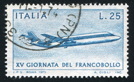 ITALY - CIRCA 1973: stamp printed by Italy, shows Caravelle, circa 1973