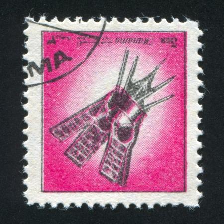 MANAMA - CIRCA 1972: stamp printed by Manama, shows a Spaceship, circa 1972 Stock Photo - 17145344