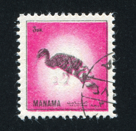 MANAMA - CIRCA 1972: stamp printed by Manama, shows a Sunbittern, circa 1972 Stock Photo - 17145872