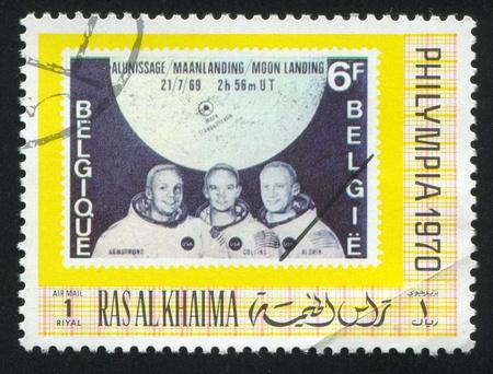 khaima: RAS AL KHAIMA - CIRCA 1970: stamp printed by Ras al Khaima, shows Apollo Astronauts, circa 1970 Editorial