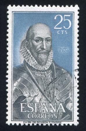 SPAIN - CIRCA 1966: stamp printed by Spain, shows Admiral Alvaro de Bazan, circa 1966 Stock Photo - 17145707