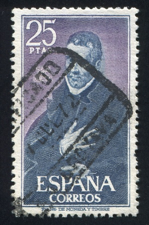 SPAIN - CIRCA 1970: stamp printed by Spain, shows St. Juan de Avila, by El Greco, circa 1970 Stock Photo - 17145736