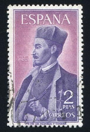 SPAIN - CIRCA 1966: stamp printed by Spain, shows Daza de Valdes, scientist, circa 1966 Stock Photo - 17146187