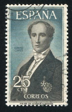 SPAIN - CIRCA 1965 : stamp printed by Spain, shows Juan Donoso-Cortes, circa 1965 Stock Photo - 17146204