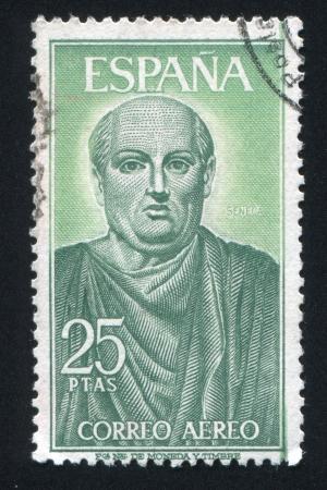 seneca: SPAIN - CIRCA 1966: stamp printed by Spain, shows Seneca, circa 1966