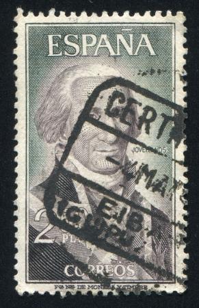 SPAIN - CIRCA 1965: stamp printed by Spain, shows Gaspar M. Jovellanos, circa 1965 Stock Photo - 17146165