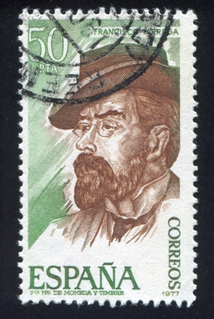 repertoire: SPAIN - CIRCA 1977: stamp printed by Spain, shows Francisco Tarrega, circa 1977