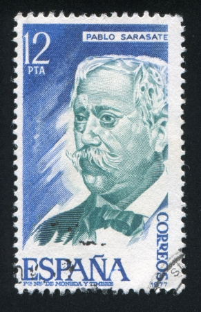 repertoire: SPAIN - CIRCA 1977: stamp printed by Spain, shows Pablo Sarasate, circa 1977 Editorial