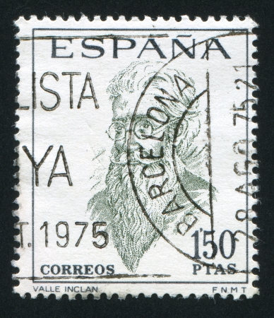SPAIN - CIRCA 1966 stamp printed by Spain, shows Ramon del Valle Inclan, circa 1966 Stock Photo - 17145391