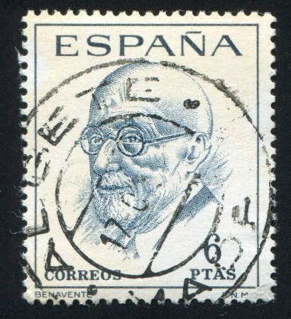 martinez: SPAIN - CIRCA 1966 stamp printed by Spain, shows Jacinto Benavente y Martinez, circa 1966 Editorial