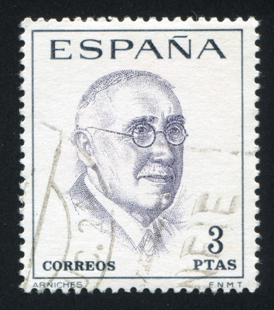 SPAIN - CIRCA 1966: stamp printed by Spain, shows Carlos Arniches, circa 1966