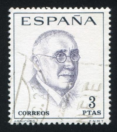 SPAIN - CIRCA 1966: stamp printed by Spain, shows Carlos Arniches, circa 1966 Stock Photo - 17145294