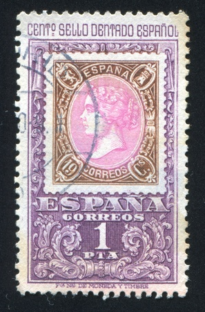 SPAIN - CIRCA 1965: stamp printed by Spain, shows Queen Isabel, circa 1965 Stock Photo - 17145593