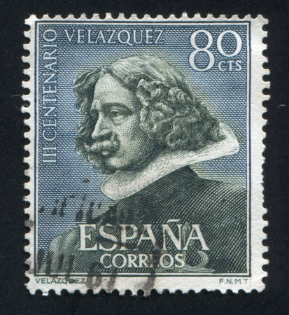 SPAIN - CIRCA 1972: stamp printed by Spain, shows Self-portrait of Velazquez, circa 1972 Stock Photo - 17145704