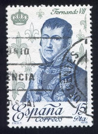 SPAIN - CIRCA 1978: stamp printed by Spain, shows Ferdinand VII, circa 1978 Stock Photo - 17145716