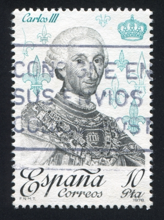 SPAIN - CIRCA 1978: stamp printed by Spain, shows Carlos III, circa 1978 Stock Photo - 17145723