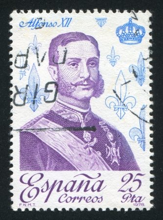 SPAIN - CIRCA 1978: stamp printed by Spain, shows Alfonso XII, circa 1978 Stock Photo - 17145755