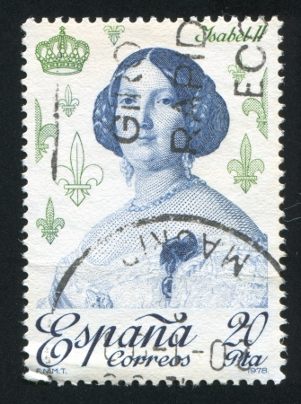 queen isabella: SPAIN - CIRCA 1978: stamp printed by Spain, shows Isabella II, circa 1978