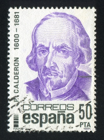 SPAIN - CIRCA 1981: stamp printed by Spain, shows Pedro Calderon, circa 1981 Stock Photo - 17145552