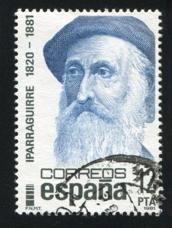 SPAIN - CIRCA 1981: stamp printed by Spain, shows Iparraguirre, circa 1981 Stock Photo - 17145689