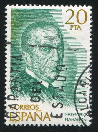 SPAIN - CIRCA 1979: stamp printed by Spain, shows Gregorio Maranon, circa 1979 Stock Photo - 17145854