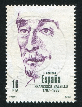 SPAIN - CIRCA 1983: stamp printed by Spain, shows Francisco Salzillo Alvarez, circa 1983 Stock Photo - 17145404