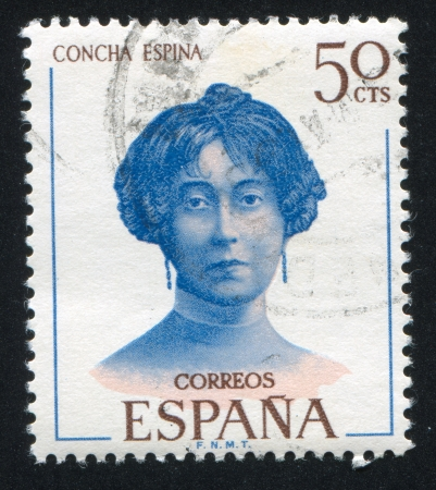 SPAIN - CIRCA 1970: stamp printed by Spain, shows Concha Espina, circa 1970 Stock Photo - 17145309