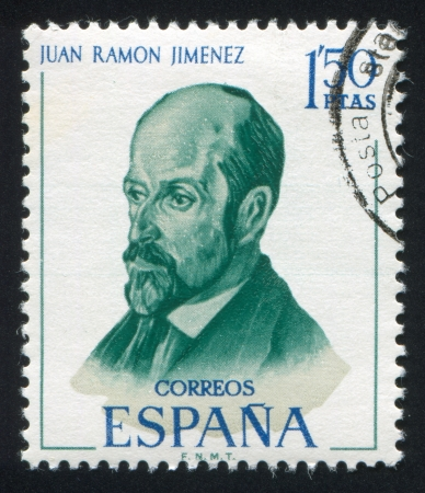 SPAIN - CIRCA 1970: stamp printed by Spain, shows Juan Ramon Jimenez, circa 1970 Stock Photo - 17145246