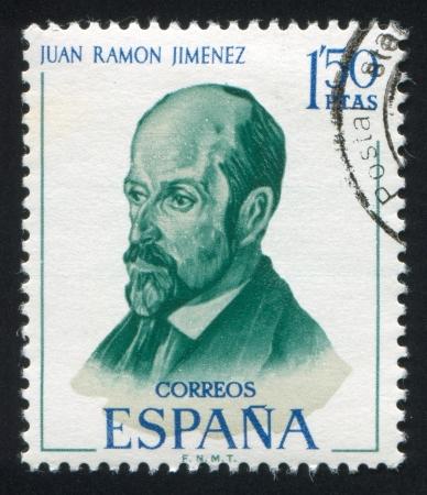 SPAIN - CIRCA 1970: stamp printed by Spain, shows Juan Ramon Jimenez, circa 1970 Stock Photo - 17145246