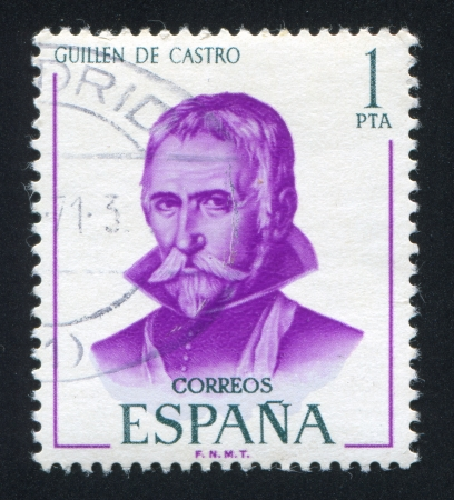 SPAIN - CIRCA 1970: stamp printed by Spain, shows Guillen de Castro, circa 1970 Stock Photo - 17145268